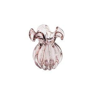 Vaso de Vidro Sodo-Cálcico Flat Italy Rosa Claro 17 cm - Lyor