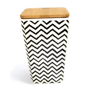 Pote Eco Black Chevron 18 cm