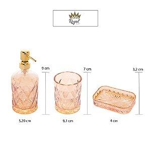 Kit com 3 peças para Banheiro Diamond Âmbar
