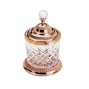 Pote Multiuso de Zamac Cristal Rose Gold Grande - Lyor