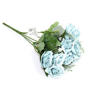 Buquê Flores Rosa Azul
