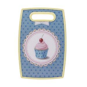 Tábua de Corte Cupcake Azul