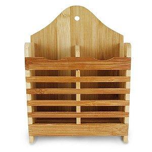 Porta Talher Com Divisória de Bambu