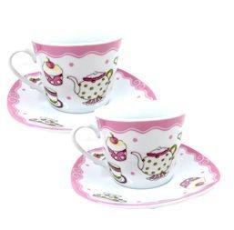 Dupla de Xícaras para Chá Cupcake