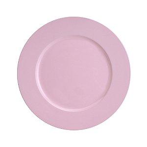 Sousplat de Plástico Opala Rosa