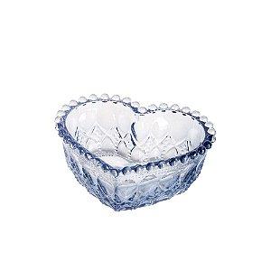 Mini Travessa de Vidro Sodo - Cálcico Coração Balls Azul Metalizado