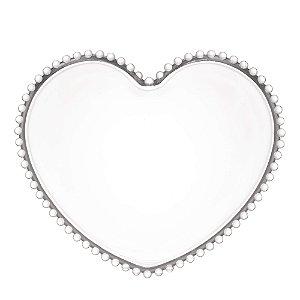 Prato de Cristal de Chumbo Pearl Bolinha Coração 17 cm - Wolff