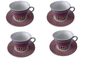 Jogo de Xícaras para Café - Losango Poá