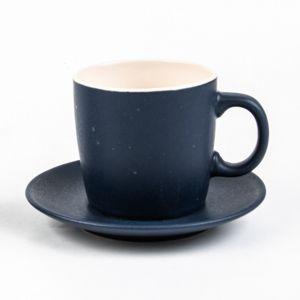 Conjunto de 4 Xícaras de Chá Cerâmica Granilite Azul 200ml