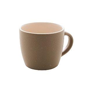Conjunto de 04 Canecas Para Café Granilite de Cerâmica Cinza