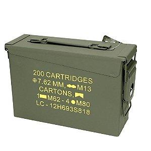 Caixa Munição Militar Ammo Box Original Ntk Guerra