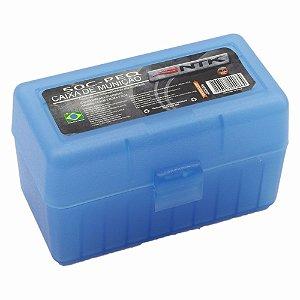 Caixa P/ Munição Tático 50c Pequena Azul Ntk