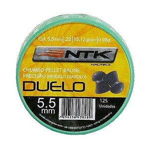 Chumbinho Ntk Modelo Duelo Cal. 5,5mm - 125un