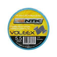 Chumbinho Para Carabina Pressão Nautika Voleex 5.5mm 125un.