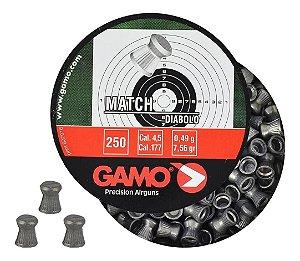 Chumbinho Carabina Pressão Gamo Match Diabolo 4.5mm 250un