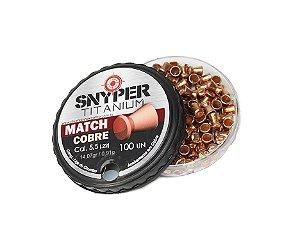 Chumbinho Snyper Titanium Match 5,5 Cobreado - 100 Un