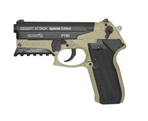 Pistola de Pressão CO2 Gamo PT-80 Desert Attack SE 08 tiros 4,5mm