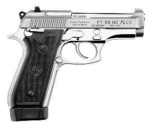 "Pistola Taurus 58HC - .380ACP - 4"" - 19+1 Tiros - Inox Fosco / Carbono Fosco"