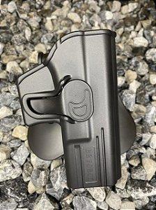 Coldre Externo Destro Glock Compact - Glock G19, 23 e 32 - Polímero