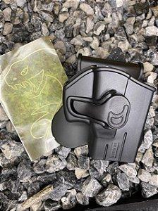 Coldre Externo Destro Taurus G2C Compact - G2C 9mm e .40 - Polímero