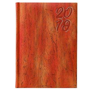 Agenda Diária Pombo 14,5 X 20,5 cm Cork Laranja