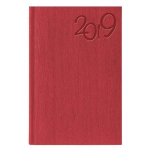Agenda Diária Pombo 11,0 X 16,5 cm Gardena Vermelha