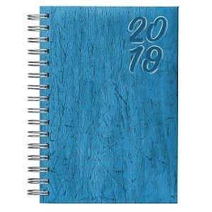 Agenda Diária Espiral Pombo 10,6 X 16,5 cm Cork Turquesa