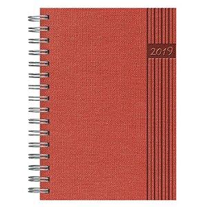 Agenda Diária Espiral Pombo 14,1 X 20,5 cm Nature Vermelha