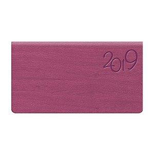 Agenda de Bolso Semanal Pombo 15,0 X 8,0 Cm, Capa Gardena Pink