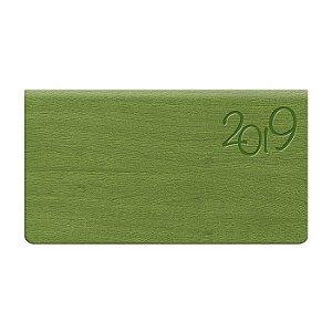 Agenda de Bolso Semanal Pombo 15,0 X 8 ,0 Cm, Gardena Verde Maçã