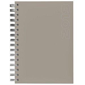 Agenda de Mesa Semanal Espiral Pombo 16,8 X 24,0 Cm, Capa Matra Cor Nude