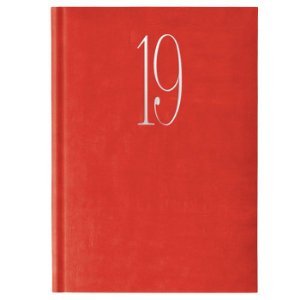 Agenda Diária Pombo 14,5 X 20,5 cm Wall Vermelho Coral