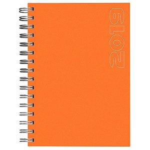 Agenda Diária Espiral Pombo 10,6 X 16,5 Cm, Matra Laranja