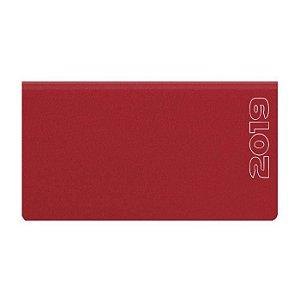 Agenda de Bolso Semanal Pombo 15,0 X 8 ,0 cm Matra Vermelha