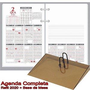 Agenda de Mesa REDOMA Calendário Financeiro 2020 R. 360 Branco + Base Fumê