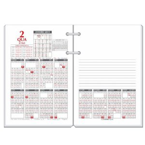 Refil - Agenda de Mesa REDOMA Calendário Financeiro 2020 R. 360 Branco