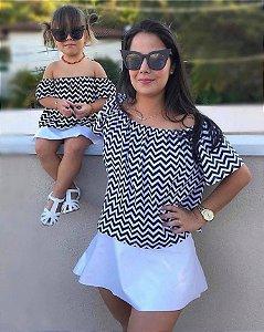 Look mãe e filha chevron