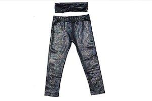 Legging e faixinha jeans Lara