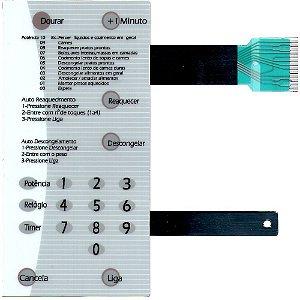 Membrana Compatível Microondas Brastemp Bmp31 Branca Com Dourador