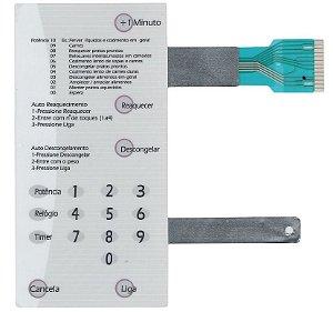 Membrana Compatível Microondas Brastemp Bmp31 Branca Sem Dourador