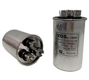 Capacitor 30+1.5 Uf 380V Copo Aluminio