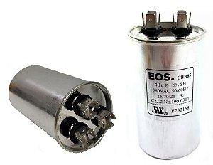 Capacitor 40+6 Uf 380V Copo Alumínio