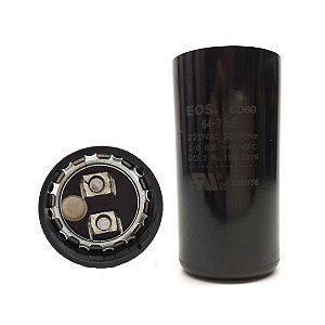 Capacitor Eletrolítico 64/77 Uf 220V