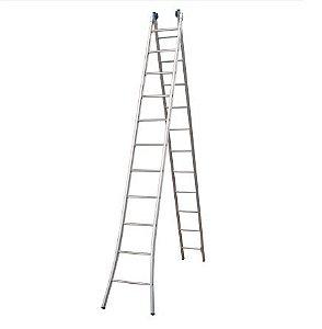 Escada Alumínio Extensível 2 X 7 Degraus Alumasa