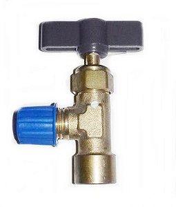 Válvula Perfuradora Rosca Menor Com Manopla R134 R410