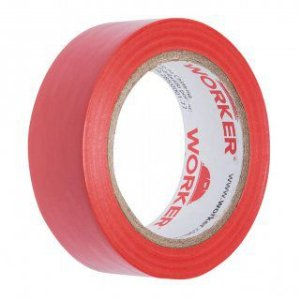 Fita Isolante 19mm X 10 Mts Vermelho Worker