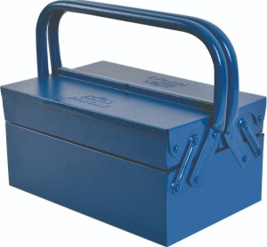 Caixa De Ferramenta De Metal Com 3 Gavetas Azul