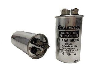 Capacitor 30 + 1,5 Uf 380V Copo Aluminio Suryha