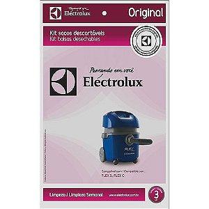 Kit com 3 Sacos Descartáveis Electrolux para Aspirador de Pó Modelos Flex S e Flex C