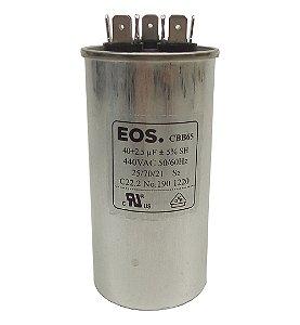 Capacitor 40+2,5 UF 440V Copo Aluminio